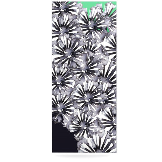 "Sonal Nathwani ""Flowers on Green"" Luxe Rectangle Panel - KESS InHouse  - 1"