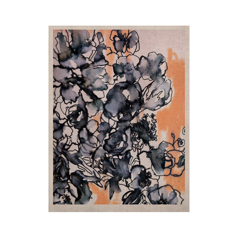 "Sonal Nathwani ""Inky Bouquet"" KESS Naturals Canvas (Frame not Included) - KESS InHouse  - 1"