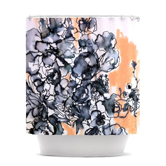 "Sonal Nathwani ""Inky Bouquet"" Shower Curtain - KESS InHouse"