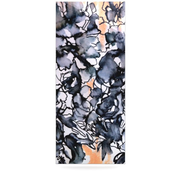 "Sonal Nathwani ""Inky Bouquet"" Luxe Rectangle Panel - KESS InHouse  - 1"