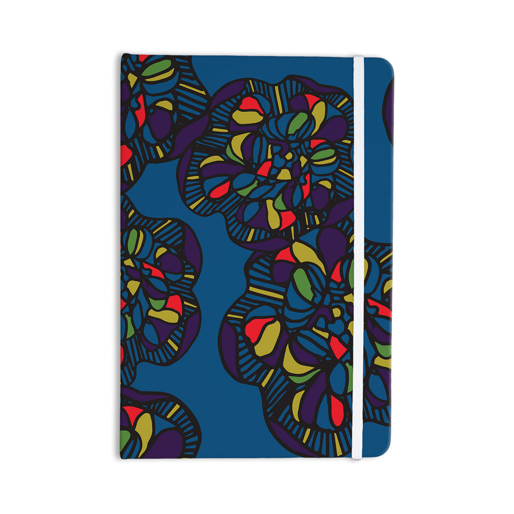 "Sonal Nathwani ""Mushroom Flower"" Navy Pattern Everything Notebook - KESS InHouse  - 1"