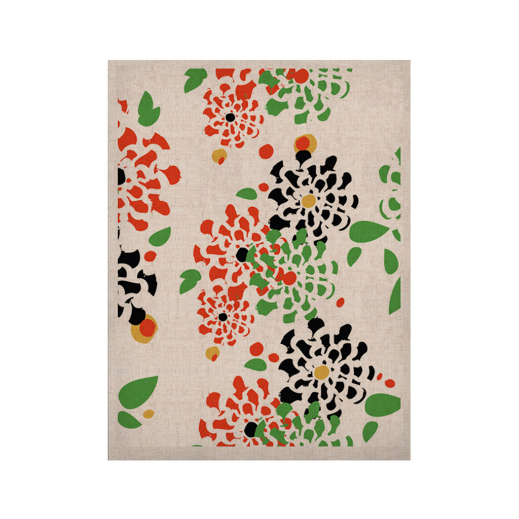 "Sonal Nathwani ""Multi Bouquet"" Orange Green KESS Naturals Canvas (Frame not Included) - KESS InHouse  - 1"