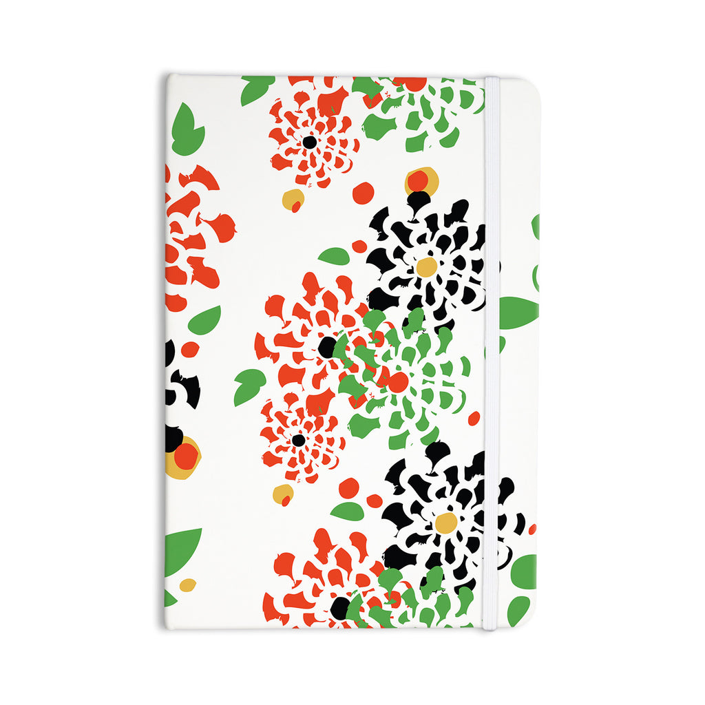 "Sonal Nathwani ""Multi Bouquet"" Orange Green Everything Notebook - KESS InHouse  - 1"