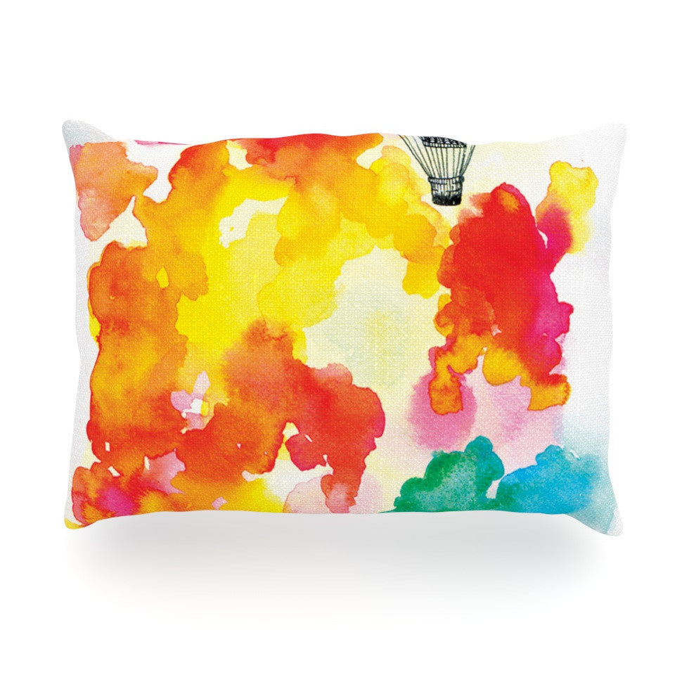 "Sonal Nathwani ""Come Away With Me"" Red Orange Oblong Pillow - KESS InHouse"