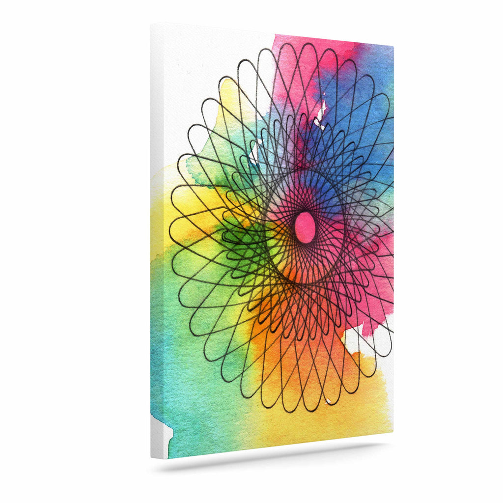 "Sonal Nathwani ""Rainbow Spiro"" Multicolor  Canvas Art - KESS InHouse  - 1"