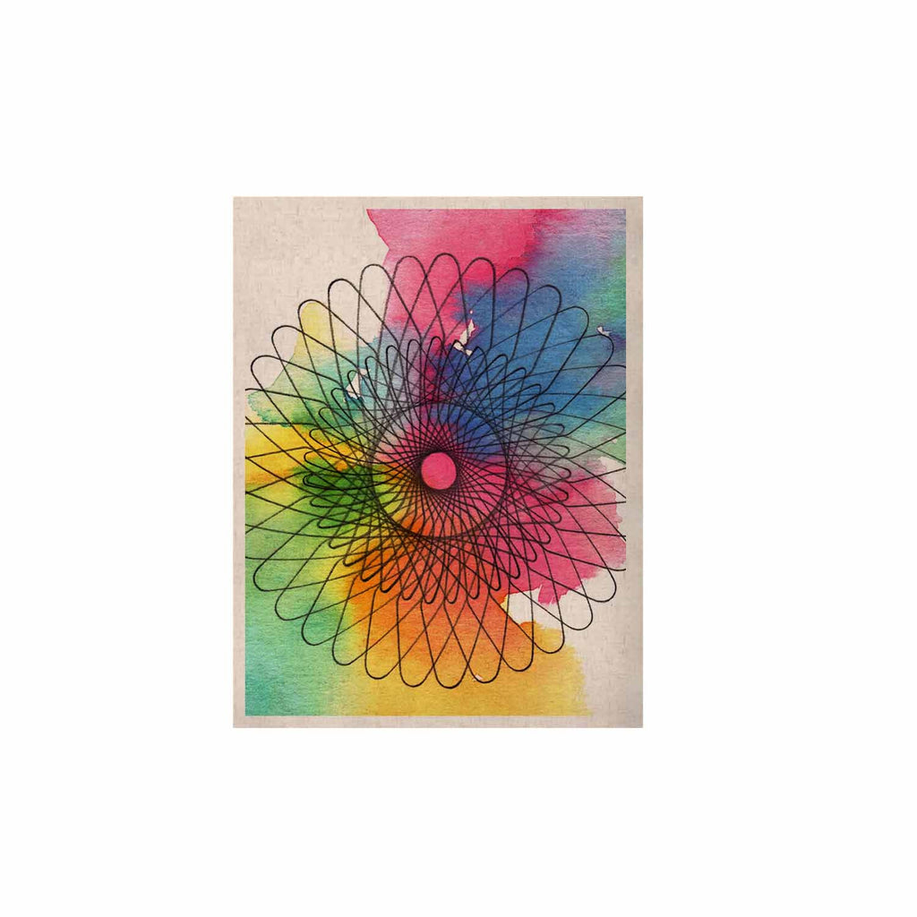 "Sonal Nathwani ""Rainbow Spiro"" Multicolor  KESS Naturals Canvas (Frame not Included) - KESS InHouse  - 1"
