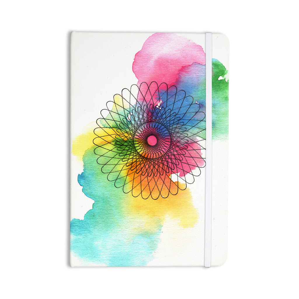 "Sonal Nathwani ""Rainbow Spiro"" Multicolor  Everything Notebook - KESS InHouse  - 1"
