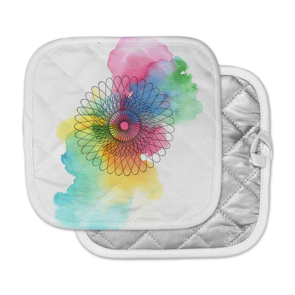"Sonal Nathwani ""Rainbow Spiro"" Multicolor  Pot Holder"