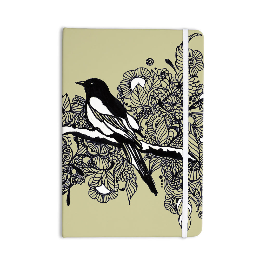 "Sonal Nathwani ""Magpie"" Tan Bird Everything Notebook - KESS InHouse  - 1"