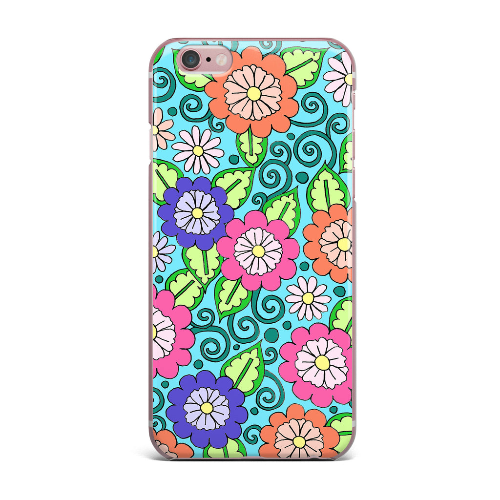"Sarah Oelerich ""Summer Floral"" Multicolor Flowers iPhone Case - KESS InHouse"