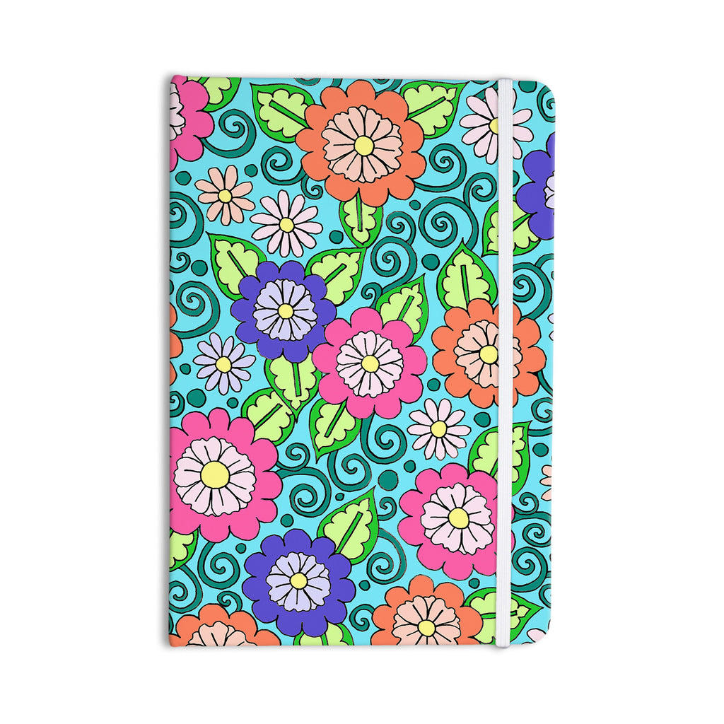 "Sarah Oelerich ""Summer Floral"" Multicolor Flowers Everything Notebook - KESS InHouse  - 1"