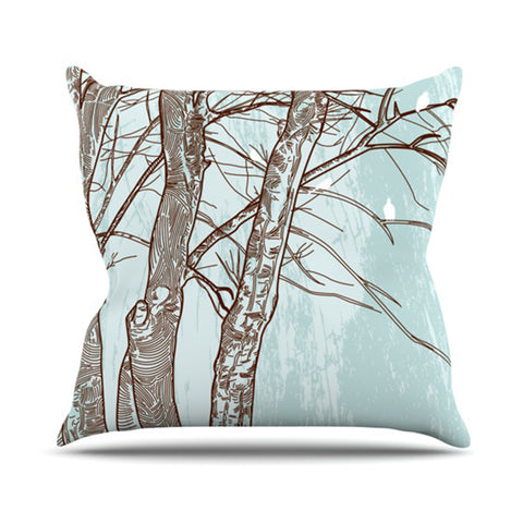 "Sam Posnick ""Winter Trees""  Throw Pillow - Outlet Item"