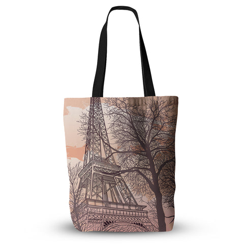 "Sam Posnick ""Eiffel Tower"" Everything Tote Bag - KESS InHouse  - 1"