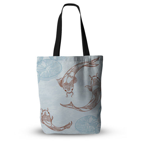 "Sam Posnick ""Koi"" Everything Tote Bag - KESS InHouse  - 1"