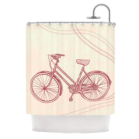 "Sam Posnick ""Bicycle"" Shower Curtain - Outlet Item"