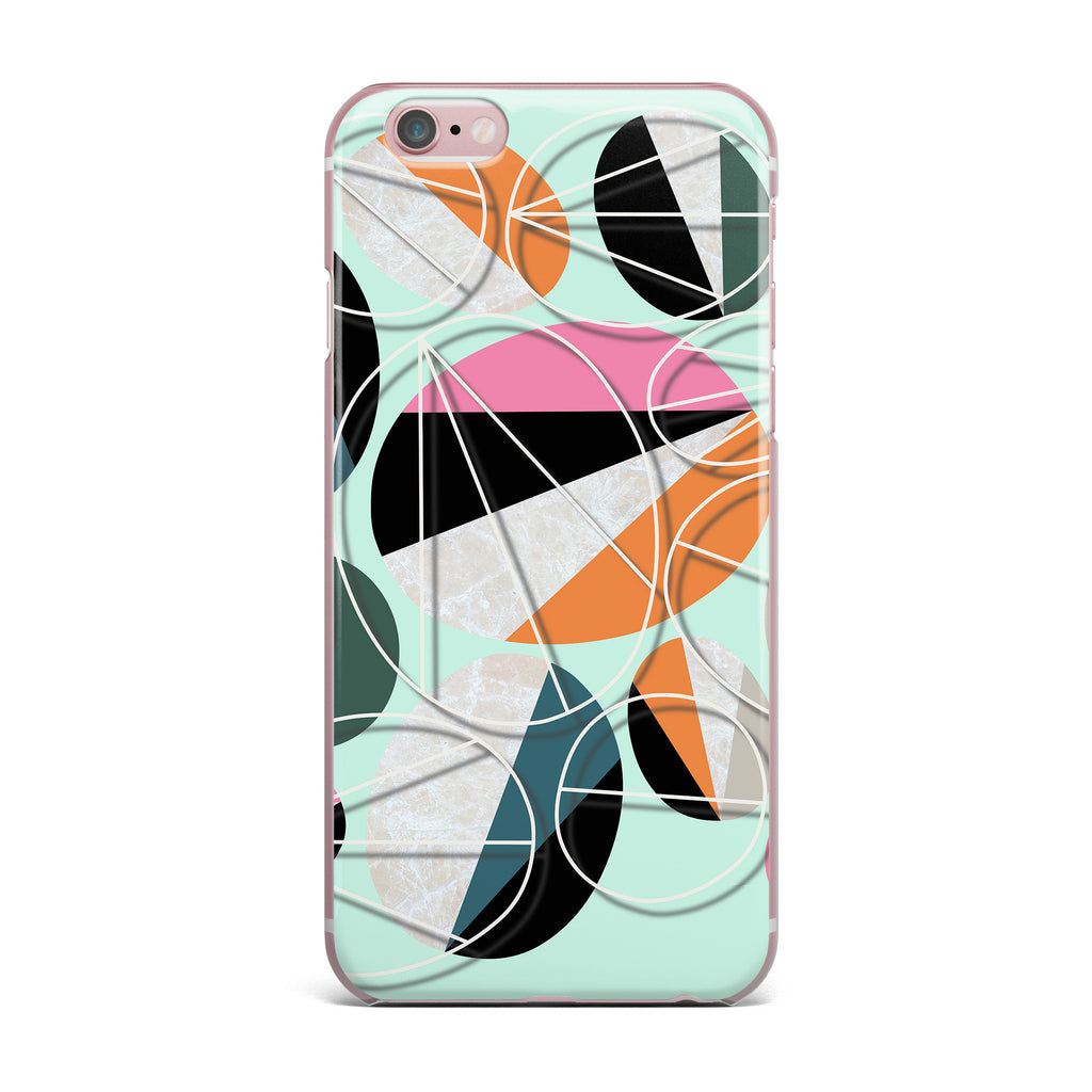 "SusanaPaz ""Stones On Mint"" Green Orange Digital iPhone Case"