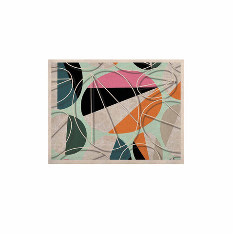 "SusanaPaz ""Stones On Mint"" Green Orange Digital KESS Naturals Canvas (Frame not Included)"