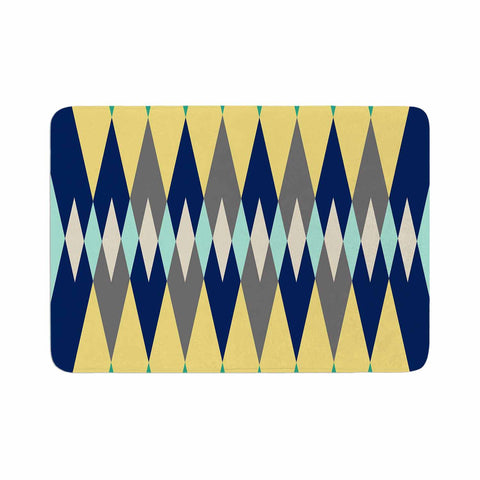 "SusanaPaz ""Sweet Tribal"" Green Blue Digital Memory Foam Bath Mat"