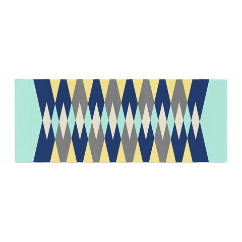 "SusanaPaz ""Sweet Tribal"" Green Blue Digital Bed Runner"