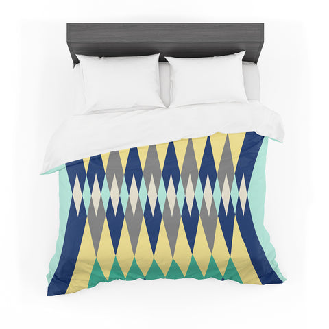 "SusanaPaz ""Sweet Tribal"" Green Blue Digital Featherweight Duvet Cover"
