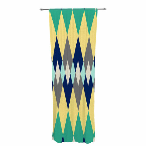 "SusanaPaz ""Sweet Tribal"" Green Blue Digital Decorative Sheer Curtain"