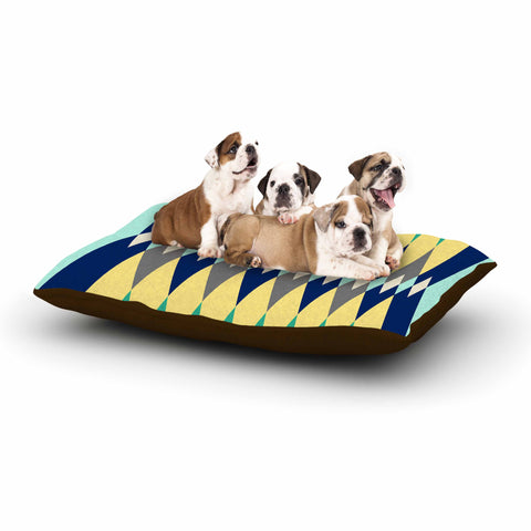 "SusanaPaz ""Sweet Tribal"" Green Blue Digital Dog Bed"