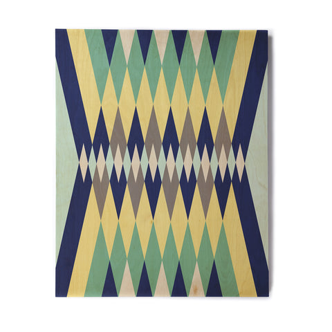 "SusanaPaz ""Sweet Tribal"" Green Blue Digital Birchwood Wall Art"