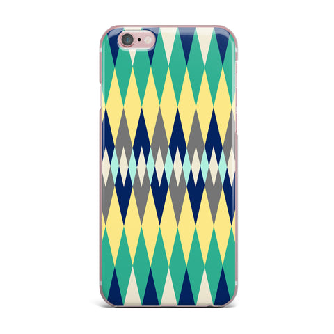 "SusanaPaz ""Sweet Tribal"" Green Blue Digital iPhone Case"
