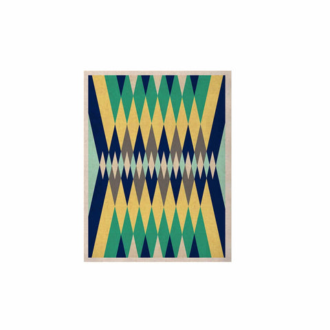 "SusanaPaz ""Sweet Tribal"" Green Blue Digital KESS Naturals Canvas (Frame not Included)"