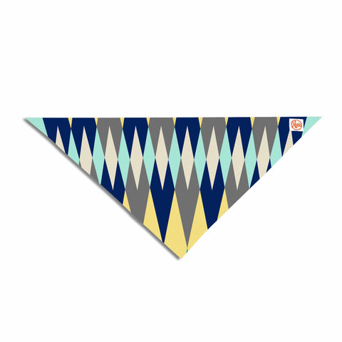 "SusanaPaz ""Sweet Tribal"" Green Blue Digital Pet Bandana"