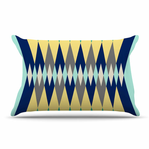 "SusanaPaz ""Sweet Tribal"" Green Blue Digital Pillow Sham"