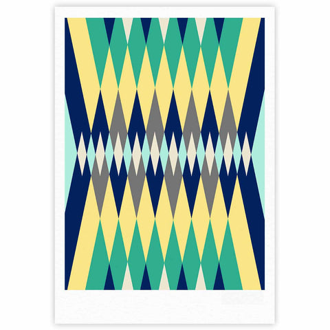 "SusanaPaz ""Sweet Tribal"" Green Blue Digital Fine Art Gallery Print"