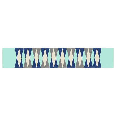 "SusanaPaz ""Sweet Tribal"" Green Blue Digital Table Runner"
