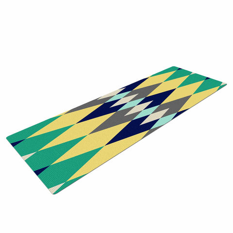 "SusanaPaz ""Sweet Tribal"" Green Blue Digital Yoga Mat"