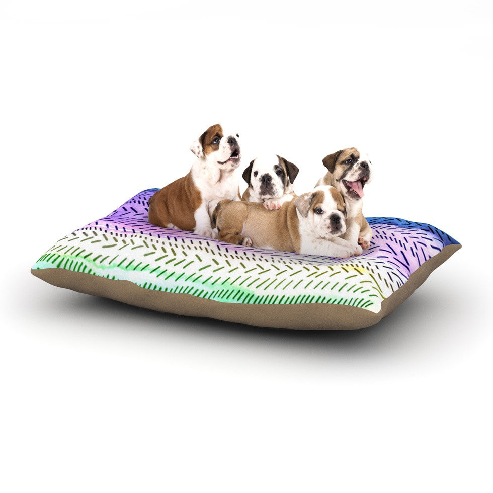 "Sreetama Ray ""Aqua"" Cool Paint Dog Bed - KESS InHouse  - 1"