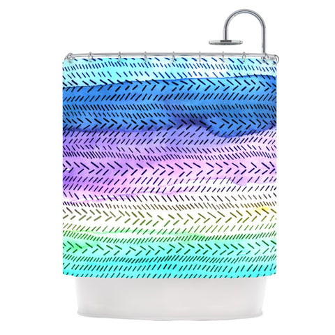 "Sreetama Ray ""Aqua"" Cool Paint Shower Curtain - Outlet Item - KESS InHouse"