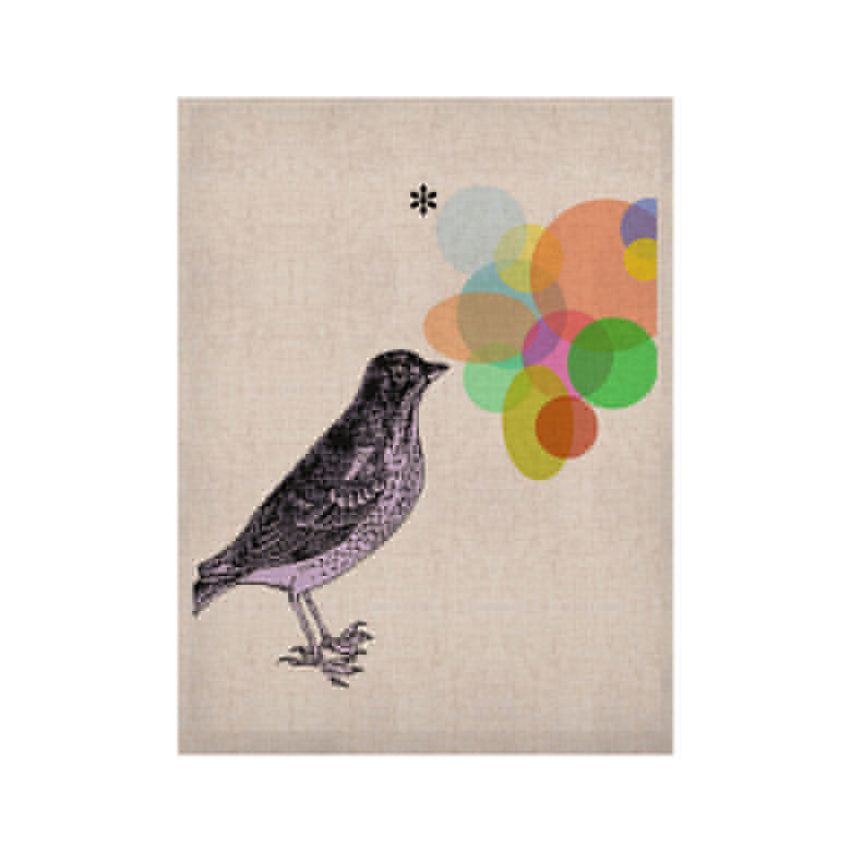 "Sreetama Ray ""Candy Birds"" Geometry Bird KESS Naturals Canvas (Frame not Included) - KESS InHouse  - 1"