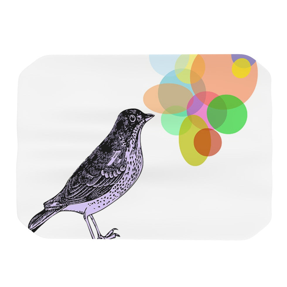 "Sreetama Ray ""Candy Birds"" Geometry Bird Place Mat - KESS InHouse"