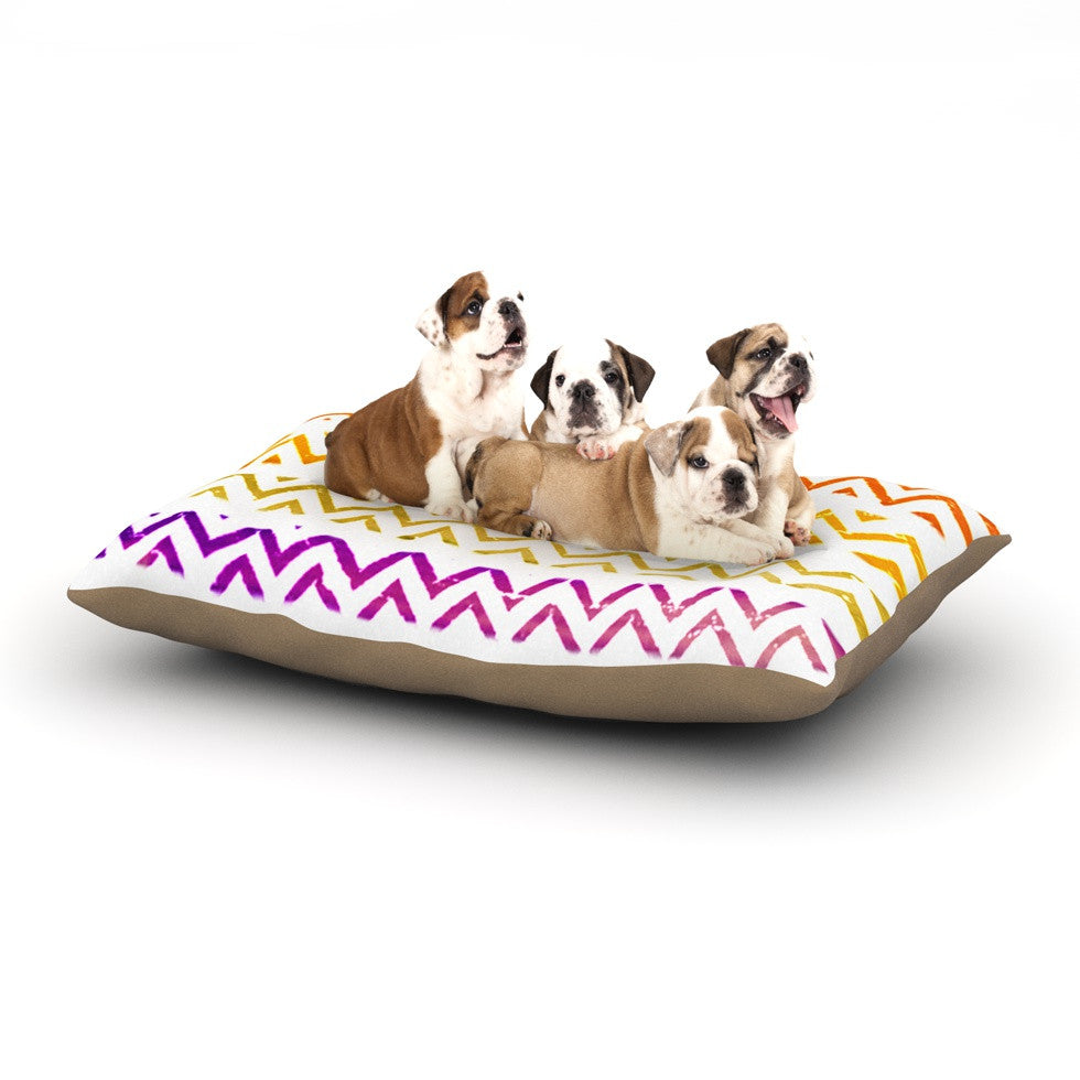 "Sreetama Ray ""Chevron Add"" Warm Chevrons Dog Bed - KESS InHouse  - 1"