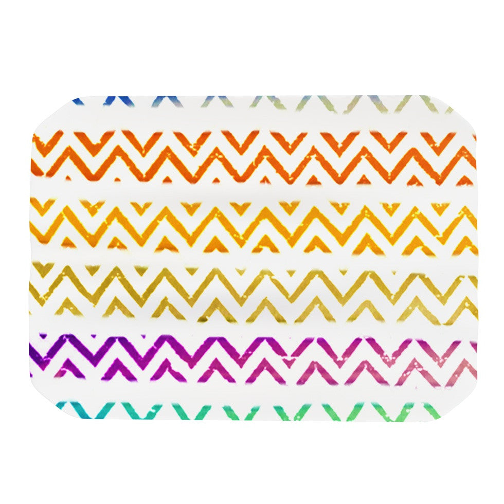 "Sreetama Ray ""Chevron Add"" Warm Chevrons Place Mat - KESS InHouse"