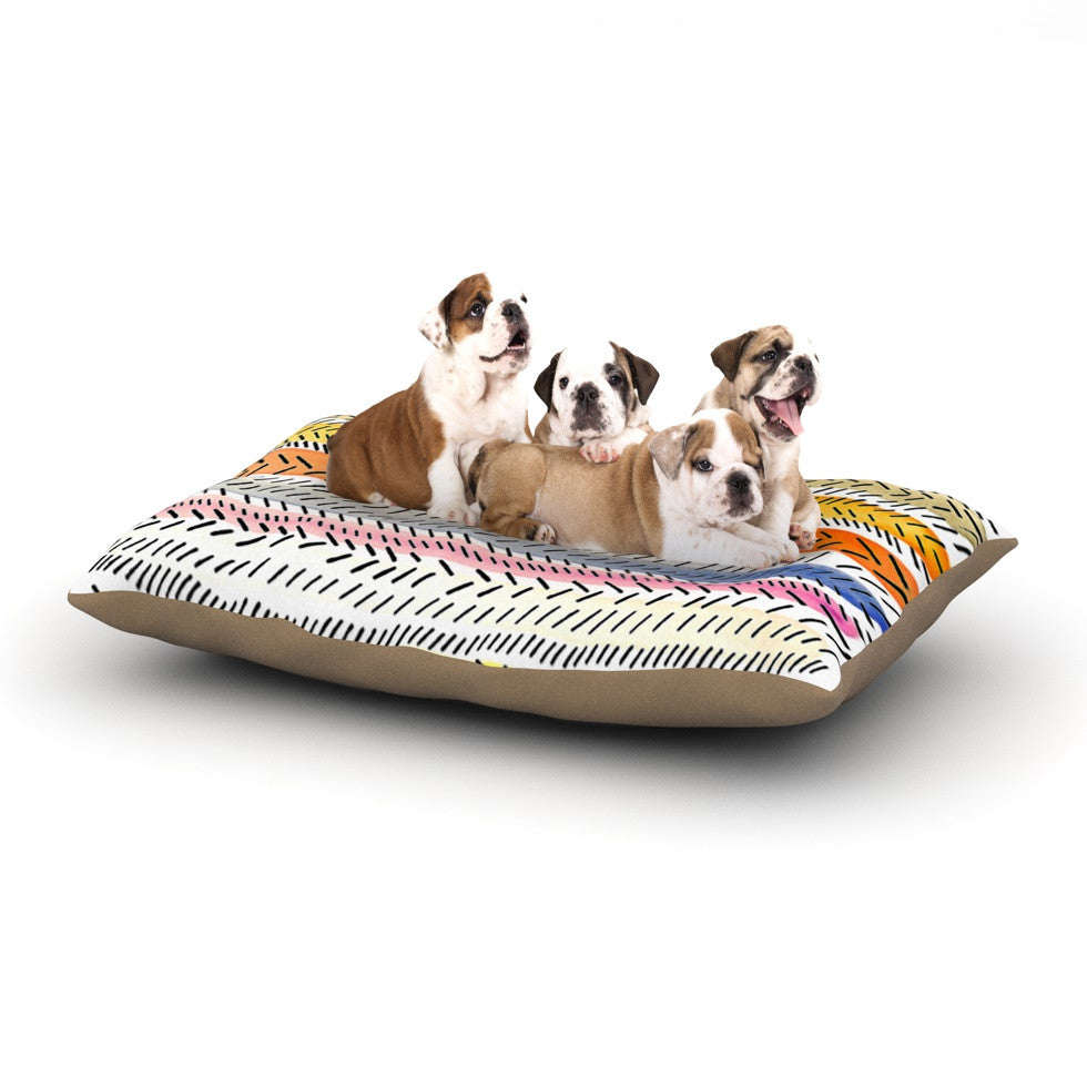 "Sreetama Ray ""Dash 3"" Dashed Paint Dog Bed - KESS InHouse  - 1"