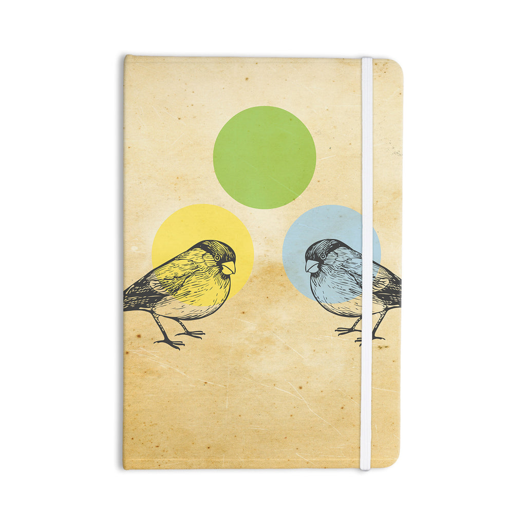 "Sreetama Ray ""Green"" Paper Birds Everything Notebook - KESS InHouse  - 1"