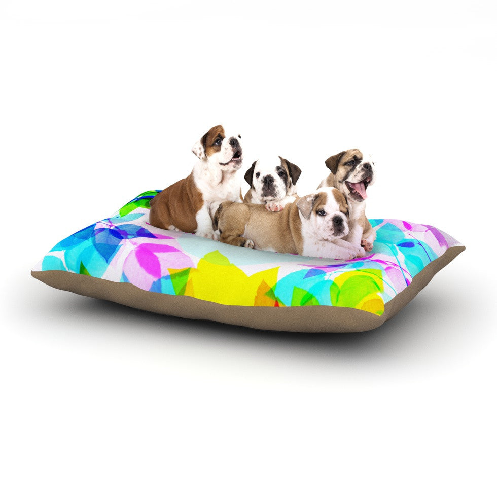 "Sreetama Ray ""Seasons Springtime"" Rainbow Leaves Dog Bed - KESS InHouse  - 1"