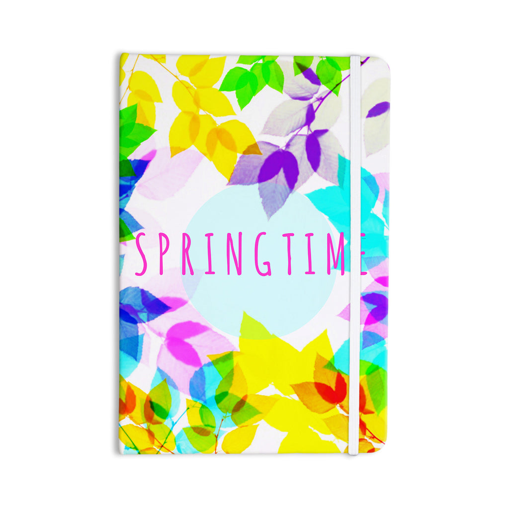 "Sreetama Ray ""Seasons Springtime"" Rainbow Leaves Everything Notebook - KESS InHouse  - 1"