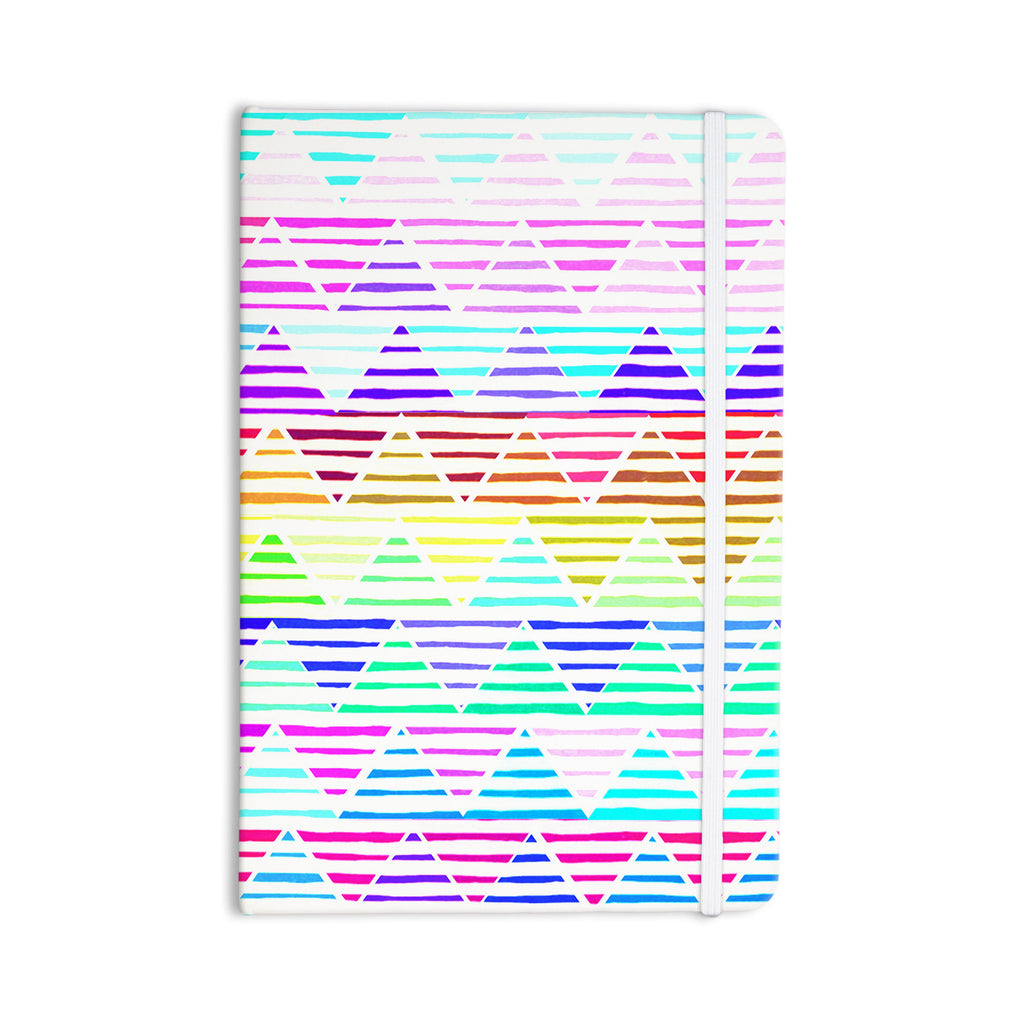 "Sreetama Ray ""Stripes Cushion"" Rainbow Chevron Everything Notebook - KESS InHouse  - 1"