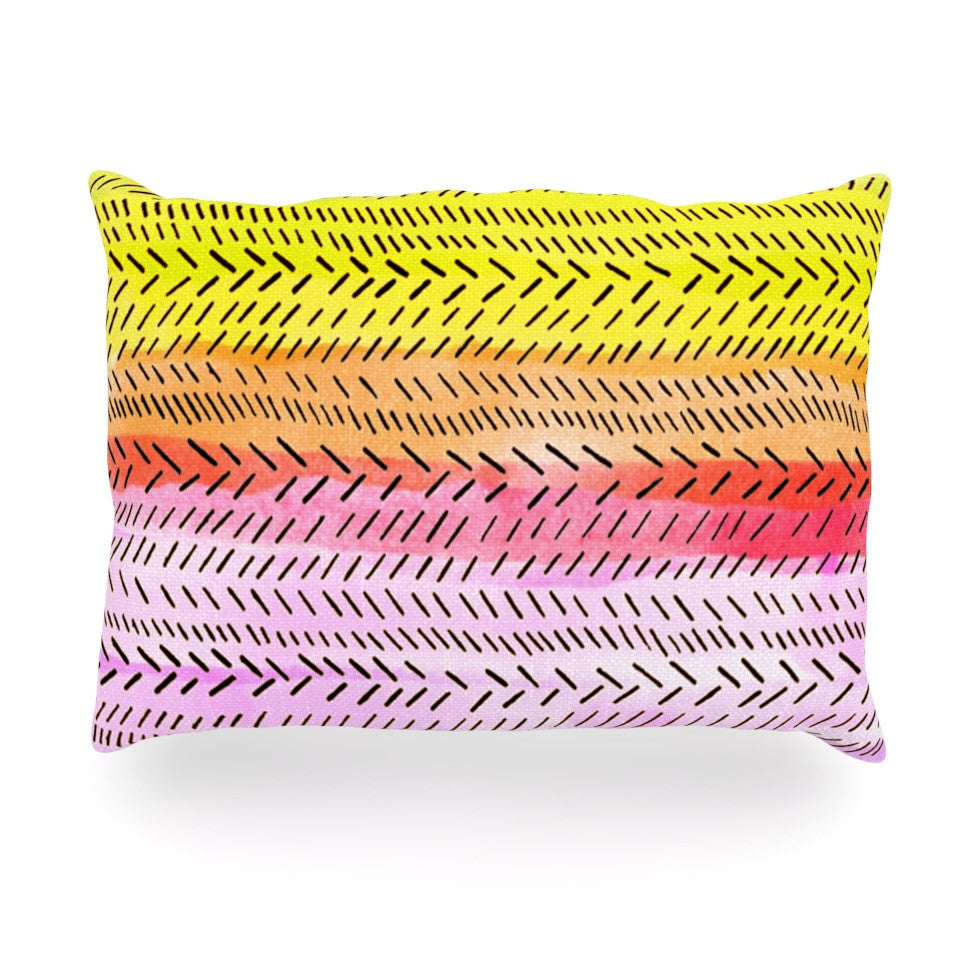 "Sreetama Ray ""Sunshine"" Warm Paint Oblong Pillow - KESS InHouse"