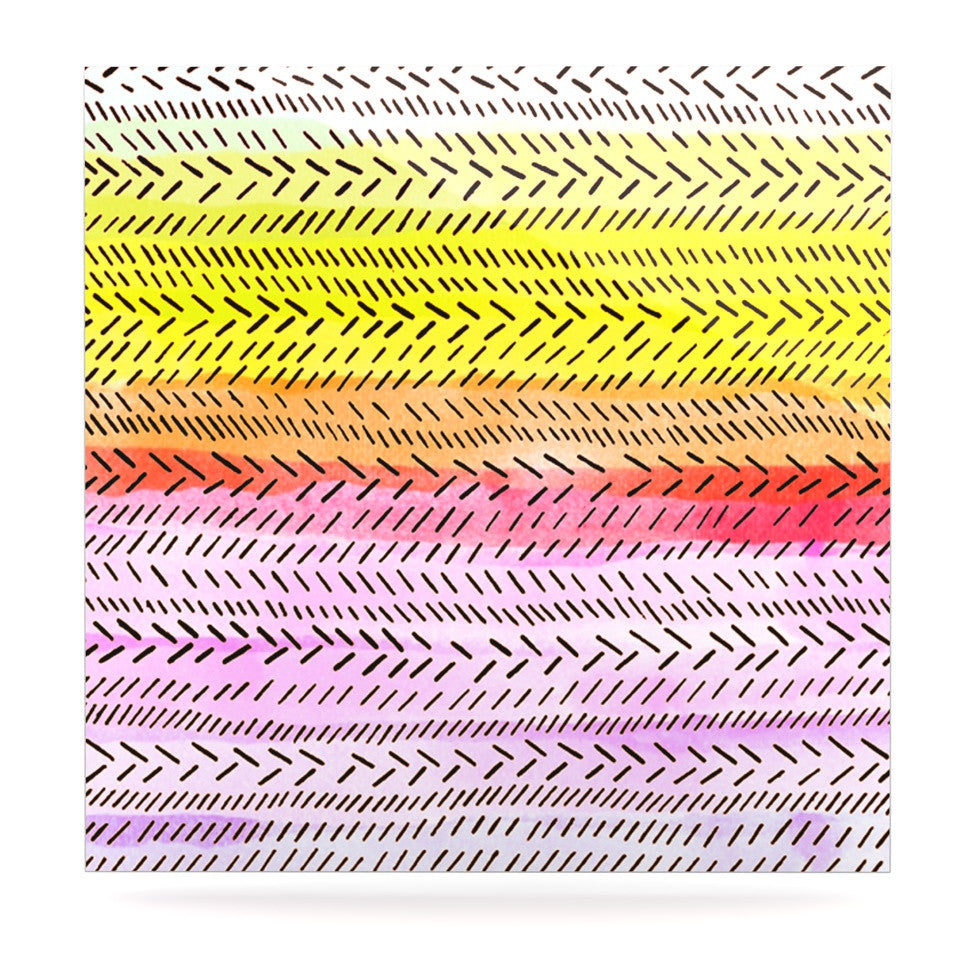 "Sreetama Ray ""Sunshine"" Warm Paint Luxe Square Panel - KESS InHouse  - 1"