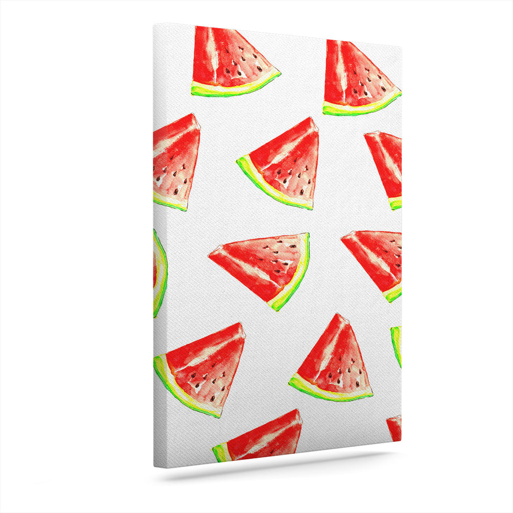 "Sreetama Ray ""Summer Fun"" Watermelon Canvas Art"