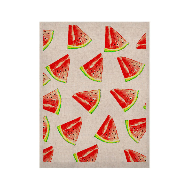 "Sreetama Ray ""Summer Fun"" Watermelon KESS Naturals Canvas (Frame not Included) - KESS InHouse  - 1"