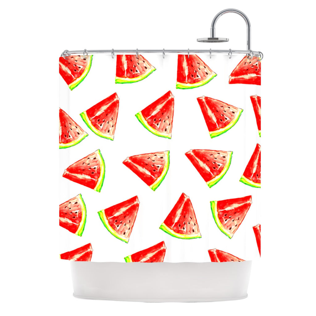 "Sreetama Ray ""Summer Fun"" Watermelon Shower Curtain - KESS InHouse"